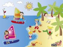 Στην παραλία ελεύθερη απεικόνιση δικαιώματος