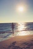 Στην παραλία Στοκ εικόνες με δικαίωμα ελεύθερης χρήσης