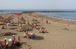 Στην παραλία Tenerife Στοκ εικόνες με δικαίωμα ελεύθερης χρήσης