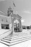 στην παλαιά αρχιτεκτονική των Κυκλάδων Ελλάδα paros και το ελληνικό του χωριού θόριο Στοκ Εικόνες