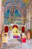 Στην παλαιά εκκλησία του μοναστηριού Podmaine Στοκ φωτογραφία με δικαίωμα ελεύθερης χρήσης