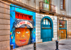 Στην περιοχή Barceloneta Στοκ φωτογραφία με δικαίωμα ελεύθερης χρήσης