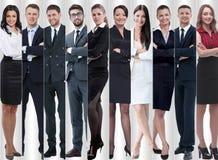 Στην πλήρη αύξηση σύγχρονοι επιτυχείς επιχειρηματίες στοκ φωτογραφίες