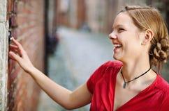 Στην πόρτα εισόδων Στοκ φωτογραφία με δικαίωμα ελεύθερης χρήσης