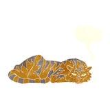 στηργμένος τίγρη κινούμενων σχεδίων με τη λεκτική φυσαλίδα Στοκ Φωτογραφία
