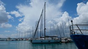 Στηργμένος Sailboats στοκ εικόνες με δικαίωμα ελεύθερης χρήσης