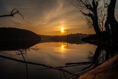Στη λίμνη Στοκ Εικόνες