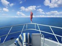 Στη βάρκα Στοκ Εικόνες