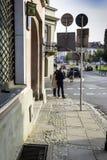 Στη Βαρσοβία Mariensztat, Στοκ εικόνα με δικαίωμα ελεύθερης χρήσης