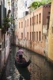 Στη Βενετία, στο μεγάλο κανάλι, Ιταλία Στοκ Εικόνες