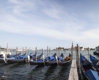 Στη Βενετία, στο μεγάλο κανάλι, Ιταλία Στοκ εικόνα με δικαίωμα ελεύθερης χρήσης