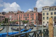 Στη Βενετία (το μεγάλο κανάλι) Στοκ Εικόνες