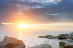 Στη θάλασσα βραδιού Στοκ φωτογραφία με δικαίωμα ελεύθερης χρήσης