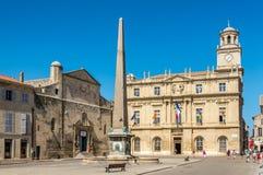 Στη θέση της Δημοκρατίας στο Arles Στοκ φωτογραφία με δικαίωμα ελεύθερης χρήσης
