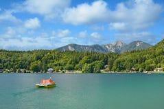 Στη λίμνη Klopeiner δείτε, Carinthia, Αυστρία στοκ εικόνες με δικαίωμα ελεύθερης χρήσης