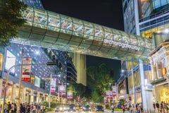 Στη μέση του δρόμου στην πύλη οπωρώνων, Σιγκαπούρη στοκ φωτογραφία