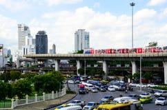 Στη νίκη Momument το BTS ένα από το σημάδι εδάφους στην πόλη Captital της Ταϊλάνδης Στοκ φωτογραφίες με δικαίωμα ελεύθερης χρήσης