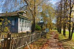 Στη ρωσική επαρχία το φθινόπωρο Στοκ φωτογραφίες με δικαίωμα ελεύθερης χρήσης