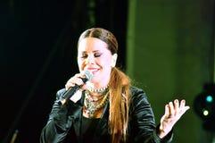 Στη σκηνή: Luminita Anghel Στοκ φωτογραφία με δικαίωμα ελεύθερης χρήσης