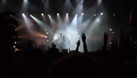 Στη συναυλία Στοκ εικόνα με δικαίωμα ελεύθερης χρήσης