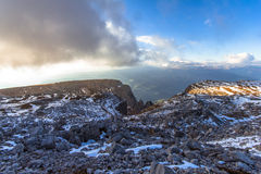 Στη σύνοδο κορυφής του Sciliar Στοκ εικόνες με δικαίωμα ελεύθερης χρήσης
