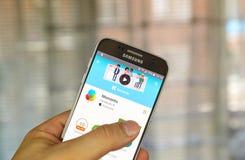 Στιγμές app Facebook Στοκ Εικόνα