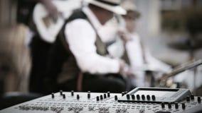 Στιγμή καταγραφής μουσικής ζωνών της Jazz φιλμ μικρού μήκους