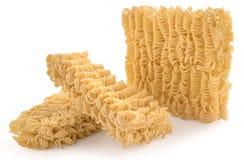 στιγμιαία απομονωμένα noodles Στοκ Φωτογραφίες