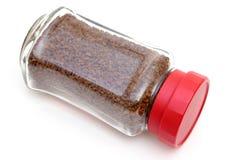 Στιγμιαίος καφές στο βάζο γυαλιού στοκ εικόνες
