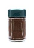 Στιγμιαίος καφές στο βάζο γυαλιού στοκ εικόνα με δικαίωμα ελεύθερης χρήσης