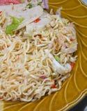 Στιγμιαίος στενός επάνω σαλάτας νουντλς πικάντικος στοκ φωτογραφίες με δικαίωμα ελεύθερης χρήσης