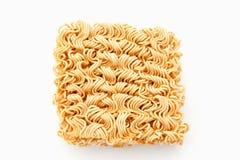 στιγμιαίο noodle ανασκόπησης λευκό Στοκ Εικόνα