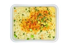 στιγμιαίο noodles ανασκόπησης λευκό Στοκ Φωτογραφίες