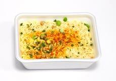στιγμιαίο noodles ανασκόπησης λευκό Στοκ Εικόνες
