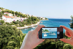 Στιγμιότυπο με το smartphone Στοκ Φωτογραφία