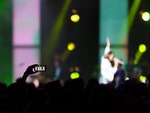 Στιγμιότυπο συναυλίας Στοκ Εικόνες