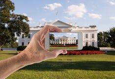 Στιγμιότυπο του Λευκού Οίκου Washington DC Στοκ φωτογραφία με δικαίωμα ελεύθερης χρήσης