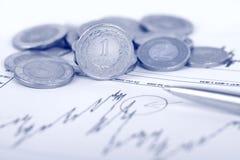 στιλβωτική ουσία νομίσμα& Στοκ φωτογραφίες με δικαίωμα ελεύθερης χρήσης