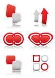 στιλπνά κόκκινα σύμβολα σ&eta διανυσματική απεικόνιση