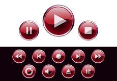 στιλπνά μέσα κουμπιών Στοκ φωτογραφίες με δικαίωμα ελεύθερης χρήσης