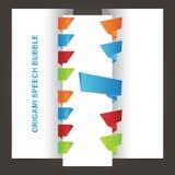 Στιλπνές ζωηρόχρωμες λεκτικές φυσαλίδες origami Στοκ Εικόνες