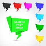 Στιλπνές ζωηρόχρωμες φυσαλίδες origami Στοκ Εικόνες