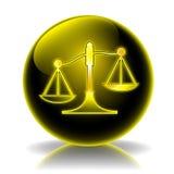 στιλπνή δικαιοσύνη εικον διανυσματική απεικόνιση