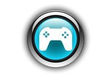 Στιλπνή επίδραση σύστασης σχεδίου κουμπιών παιχνιδιών Στοκ Εικόνα