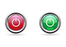 στιλπνή ισχύς κουμπιών Στοκ Εικόνες