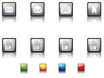 στιλπνή no8 σειρά κουμπιών Στοκ Φωτογραφία