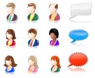 στιλπνοί άνθρωποι iconset διάφορ διανυσματική απεικόνιση