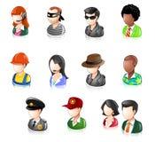 στιλπνοί άνθρωποι iconset διάφορ ελεύθερη απεικόνιση δικαιώματος
