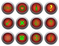 στιλπνός Ιστός κουμπιών Στοκ φωτογραφίες με δικαίωμα ελεύθερης χρήσης