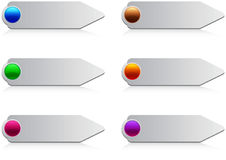 στιλπνός Ιστός κουμπιών Στοκ Εικόνες